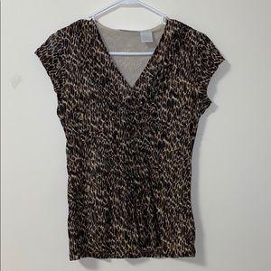 Worthington Cheetah Blouse